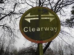 clearway sign Aldershot