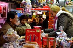 Saturday markets (pauldevaney) Tags: barcelona street old people urban colour art fashion shop la spain market saturday scene rambla photogrpahy pauldevaney