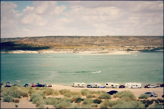 (K. Sawyer Photography) Tags: lake cars beach water sand reservoir trailers riogrande manmadelake jetskies elephantbuttereservoir elephantbuttenewmexico elephantbuttelakestatepark riograndeproject