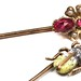 1037. Two Antique Gem Set Insect Motif Stickpins
