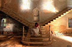 Give light and the darkness will disappear (Sshhhh...) Tags: abandoned vintage mask explore staircase urbanexploration asylum derelict nightdress
