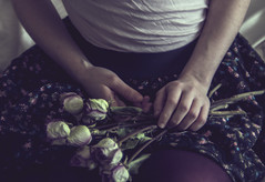 (Jeannette Rose) Tags: flowers selfportrait girl driedflowers driedroses floralskirt