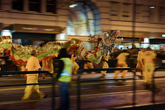 Dragon at Chinese New Year Parade (Tempero Calulu) Tags: sanfrancisco california new 50mm nikon year chinese chinesenewyear motionblur handheld marketstreet fullframe nikkor  fx dragondance springfestival   d600    chineseamericans     ttnguynn  chineseincalifornia    lngdechunrn thesanfranciscochinesenewyearfestivalandparade
