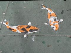 Jeremy Novy Street Art (shaire productions) Tags: sf sanfrancisco street urban fish art graffiti photo paint artist image painted arts picture pic sidewalk photograph koi carp graff sidewalks imagery jeremynovy
