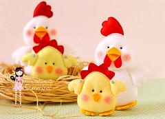 Fazendinha (! Ei Menina - rica Catarina) Tags: galinha artesanato enfeites feltro festa aniversrio pintinho bichinhos Fazendinha Lembrancinhas enfeitedemesa