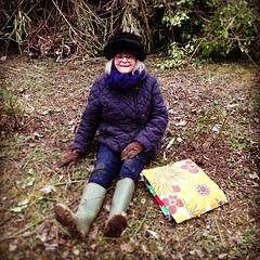 """I have an affinity with roses"" claims mother before setting off to prune 52 of them. #hungrycyclistlodge #burgundywinter #roses • <a style=""font-size:0.8em;"" href=""http://www.flickr.com/photos/30386142@N06/8522819483/"" target=""_blank"">View on Flickr</a>"