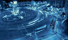 Blue Lights.- (ancama_99(toni)) Tags: barcelona city blue light vacation espaa azul lights spain nikon highway carretera bcn catalonia catalunya blau vacaciones barcellona catalua barcelone cyanotype 18105 catalogne 10favs 10faves 2013 ltytr1 ltytr99 d7000 nikond7000