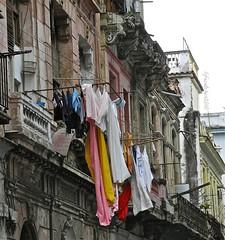 balcony laundry (lifecatcher2010) Tags: architecture arch balcony havana cuba laundry clothe dscn3212