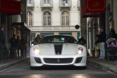 One of 599 (Niklas Emmerich Photography) Tags: worldcars lovethiscolouronthisbritishferrari599gtogenevawasamazingandmorephotoswillfollow©donotusewithoutmypermissionhotelbristol geneva2013blackwhitebluetuninggentmotorshowautomobilsalonbristolhotellimiteditalianswissschweiz458spiderenglanduklondonspotting57mat