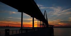 Ravenel Burst (Montwerx) Tags: bridge sunset sky twilight dusk south mount charleston carolina brilliant pleasant ravenelbridge arthurravenelbridge