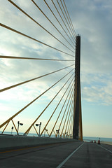 Sunshine Skyway (dbcnwa) Tags: road travel bridge usa architecture concrete highway tampabay florida steel cables interstate sunshineskyway roadway i275 tollbridge sunshineskywaybridge cablestayed interstate275