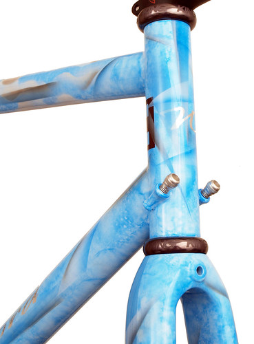 <p>Head tube detail on 33-Series Race Ready design w/one-off paint job</p>
