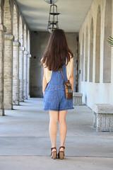 in florida (laurenwinterdotco) Tags: summer vacation vintage spring florida style thrift overalls denim wardrobe beadednecklace claybead outfitpost bloomingleopold madewellsandals