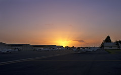 Main apron sunset (Louicio) Tags: sunset tarmac fly airport pentax aircraft awesome australia melbourne aeroplane apron oxford ltd cessna hangers 172 airfield k5 moorabbin 31mm taxyway