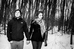 Gina & Ole 3 (Tom_R.) Tags: schnee winter portrait bw white black nikon couple outdoor ole gina shooting blitz wald schwarz weis d90