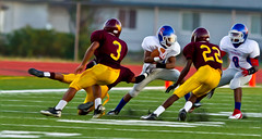 High School Football (JSPhotoLLC) Tags: sports football action vivid impact oilpainting ef300mmf28 canon7d pixelbender