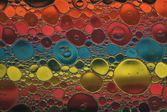 Oil and water (Tony Dias 7) Tags: macro water circle colours round oil