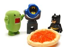 DOMO CALLING BATMAN ! (kingkong21) Tags: domo batman trio dccomics mattel fisherprice