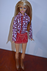 Rockin the country look  (DollyWorld) Tags: girl smile pose doll pretty boots country barbie cutie plastic blonde western dolly mattel collector