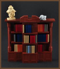 The Bookcase (H. P. Lovecrafts Study) (Xenomurphy) Tags: summer rat lego gothic providence study cthulhu lovecraft horror bookcase artifact author hplovecraft necronomicon moc oldones brownjenkins