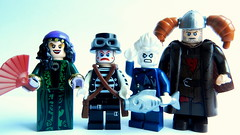 Madame Yeltsina and her travelling circus (MrScareChrome) Tags: show crazy punk lego fig steam barf freak russian figbarf