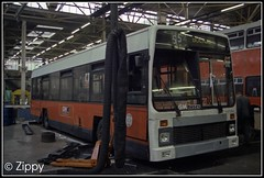 Drastic Surgery! (Zippy's Revenge) Tags: bus garage transport front bn workshop bolton integral depot lynx 503 rebuild leyland 1403 greatermanchester gmbuses northerncounties gmn gmbusesnorth crookstreet d503lna picmonkey:app=editor