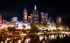 Federation Square (Pat Charles) Tags: city longexposure reflection night river lights nikon cloudy australia melbourne victoria yarra flickraward flickraward5