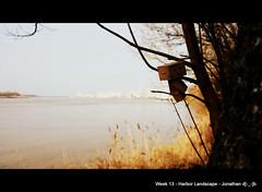Week 13 - Harbor Landscape (Jonathan d[-_-]b) Tags: canon danbo revoltech danboard canoneos1100d danbordeaux