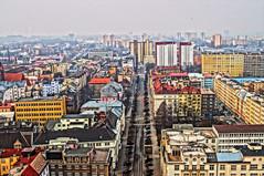 Ostrava!!! (RichardNov) Tags: city building colors architecture buildings town mainstreet downtown cloudy sigma czechrepublic centrum hdr hdri ostrava ceskarepublika 30mm mesto barvy sonyalpha sonya57 zatazeno