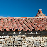 Traditional roof, L'Hermenault, the Vendée, France.