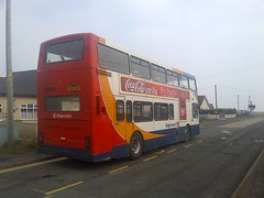 16013 resting at Lydd on sea (the insider2013) Tags: old sea volvo kent east solo ashford dover stagecoach romney olympian folkstone lydd optare 16013 enviro400