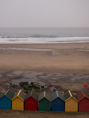 Whitby (Forgotten Chapters) Tags: sea beach swimming seaside rainbow colours room olympus huts hut changing whitby epm1