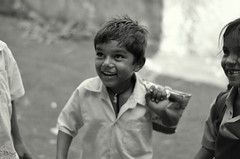 Happiness should be the Parameter (Gattam Pattam) Tags: school boy india white black smile childhood rural children happy kid student education child study