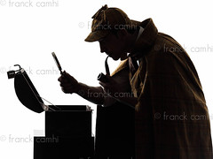 sherlock holmes and the open safe (Franck Camhi) Tags: shadow portrait people man male silhouette mystery cutout private person one 1 justice costume holding serious profile pipe fulllength police magnifyingglass suit indoors whitebackground crime mysterious studioshot safe robbery sherlockholmes sideview distrust suspicion isolated inspector suspicious oneperson searching detective investigation investigating oneman mistrust englishculture