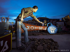 In a New Light (James Neeley) Tags: nightphotography lightpainting lasvegas nevada boneyard lowlightphotography jamesneeley neonsignmuseum
