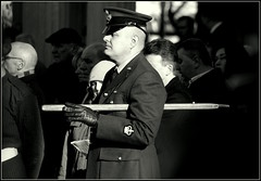 Remembering November (* RICHARD M) Tags: street mono uniform candid military remembranceday remembrance nco southport raf sergeantmajor armisticeday remembrancesunday merseyside sefton royalairforce armedservices peakedcap 11thnovember 111112 pacestick