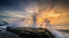 Splash 02 (eggysayoga) Tags: bali sunrise indonesia landscape nikon soft hard tokina filter lee nd graduated gnd 1116mm ketewel manyar d7000