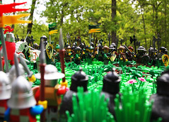 The Prelude... (Mark of Falworth) Tags: forest army woods war lego battle scene lcc loreos lenfald