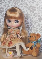 Dina in my handmade dress