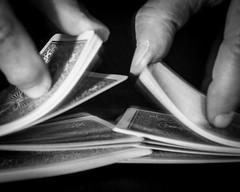 Cards (lclower19) Tags: macromondays hmm cards macro closeup hands shuffle black white bw