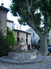 fountain (Ladybadtiming) Tags: vaisonlaromaine vaucluse summer stone light fountain medieval planetree comtadine houses urban ancient old quiet bliss