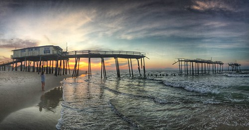 What Remains: Cape Hatteras Pier at Frisco, North Carolina 6:01 a.m. 7/25/16