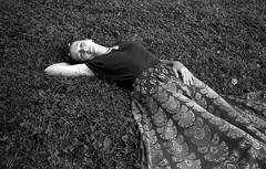 (Natasha Buzina) Tags: portrait femaleportrait summertime park film blackandwhite monochrome olympusom