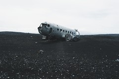 Not all those who wander are found (Lucas Marcomini) Tags: landscape nature travel lucasmarcomini iceland adventure wanderlust explore intothewild roadtrip outthere ontheroad liveauthentic folk abandoned ruin rust blacksand plane wreck outdoors exploring wander wonder awe isolation nikon