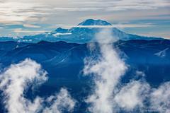 The Mountain (Daniel [Zilcsak]) Tags: mount rainier mountain peak glaciers snow snowed top summit above clouds steam fog landscape