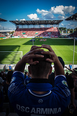 # (mai.qu) Tags: fusball germany dsc arminia bielefeld georg melches stadion rot weiss essen white red dfb pokal soccer
