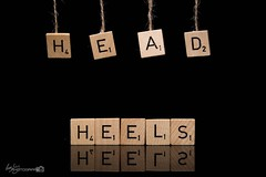 33/52 - Head Over Heels (Forty-9) Tags: week33 efs1785mmf456isusm headoverheels 3352 forty9 project522016 yongnuospeedliteyn560iv 2016 scrabble strobist tomoskay 522016 yongnuo lightroom canon strobism studio hang efslens eos60d 18082016 thursday 52 string flash august project52 playonwords