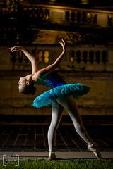 balet dancer in the heart of Budapest #4 (gab.imre) Tags: hungarian girl blue flash art night balet dancer nightshot budapest downtown