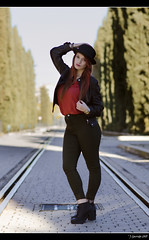 Irene Ballesteros - 1/5 (Pogdorica) Tags: modelo sesion retrato posado arganzuela pelirroja sombrero chica sexy