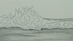 20130327 WoutvanMullem Waves on the beach 20 (Wout van Mullem) Tags: wave waves beach sea animation still pencil wout van mullem